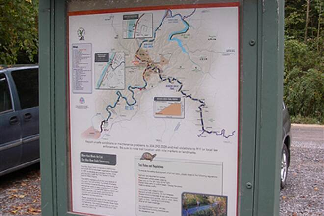 Mon River Trail Mon River - South kiosk kiosk & trail system map on Mon River Trail - south section