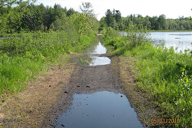 Monadnock Branch Rail-Trail Trail has been improved Water from spring rains