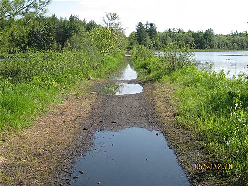 Monadnock Recreational Rail Trail Trail has been improved Water from spring rains
