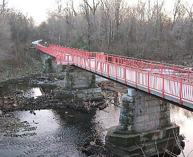 Monon Trail Bridges of the Monon A bridge in Marott Park and Nature Preserve.