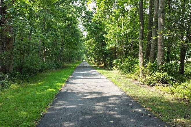 Monroe Township Bikeway Amazing  Day On The Trail This photo is east of Tuckahoe Rd,