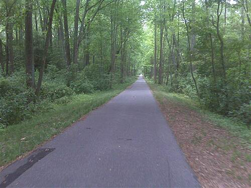 Monroe Township Bikeway Monore-Glassboro Bike Path this part is closer to Glassboro end, quiet and beautiful scenery
