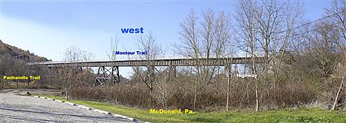 Montour Trail McDonald, Montour-Panhandle connects .6mi. West Montour & Panhandle meet .6 west of parking