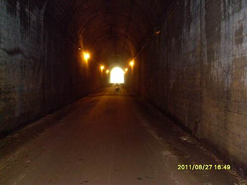Montour Trail   Inside the Enlow Tunnel.