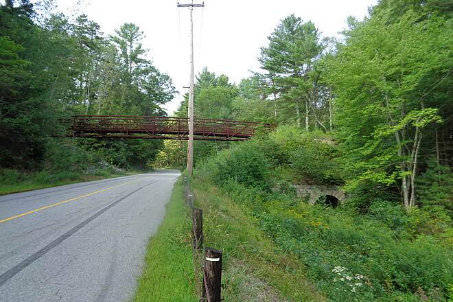 Moosup Valley State Park Trail Bridge over Providence Rd The bridge over Providence Rd. on 9/4/16 looking north.