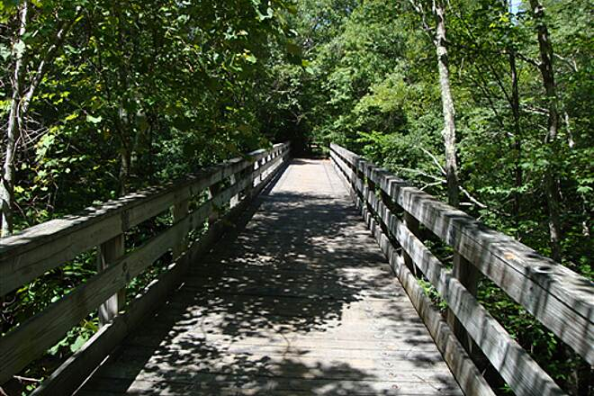 Moosup Valley State Park Trail Moosup River Brdige #2 Located 3 miles from the start is the 2nd Moosup River Bridge