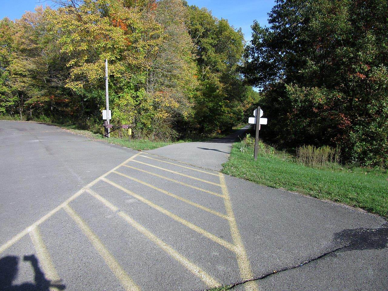 Moraine State Park Bike Trail Trail The trail crosses a few in park roads and parking areas