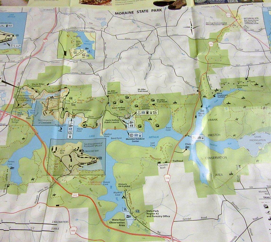 Moraine State Park Bike Trail Park Map Pick up a park map at the park - Moraine State Park