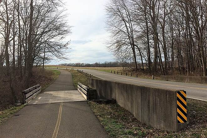 Moraine State Park Bike Trail April 2019 Bike Trail Asphalt Paved Bike Trail-April, 2019.