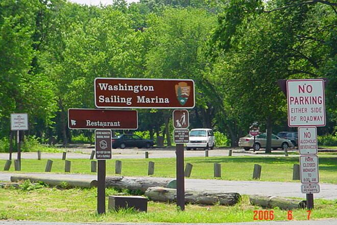 Mount Vernon Trail Daingerfield Island Entrance to Washington Sailing Marina