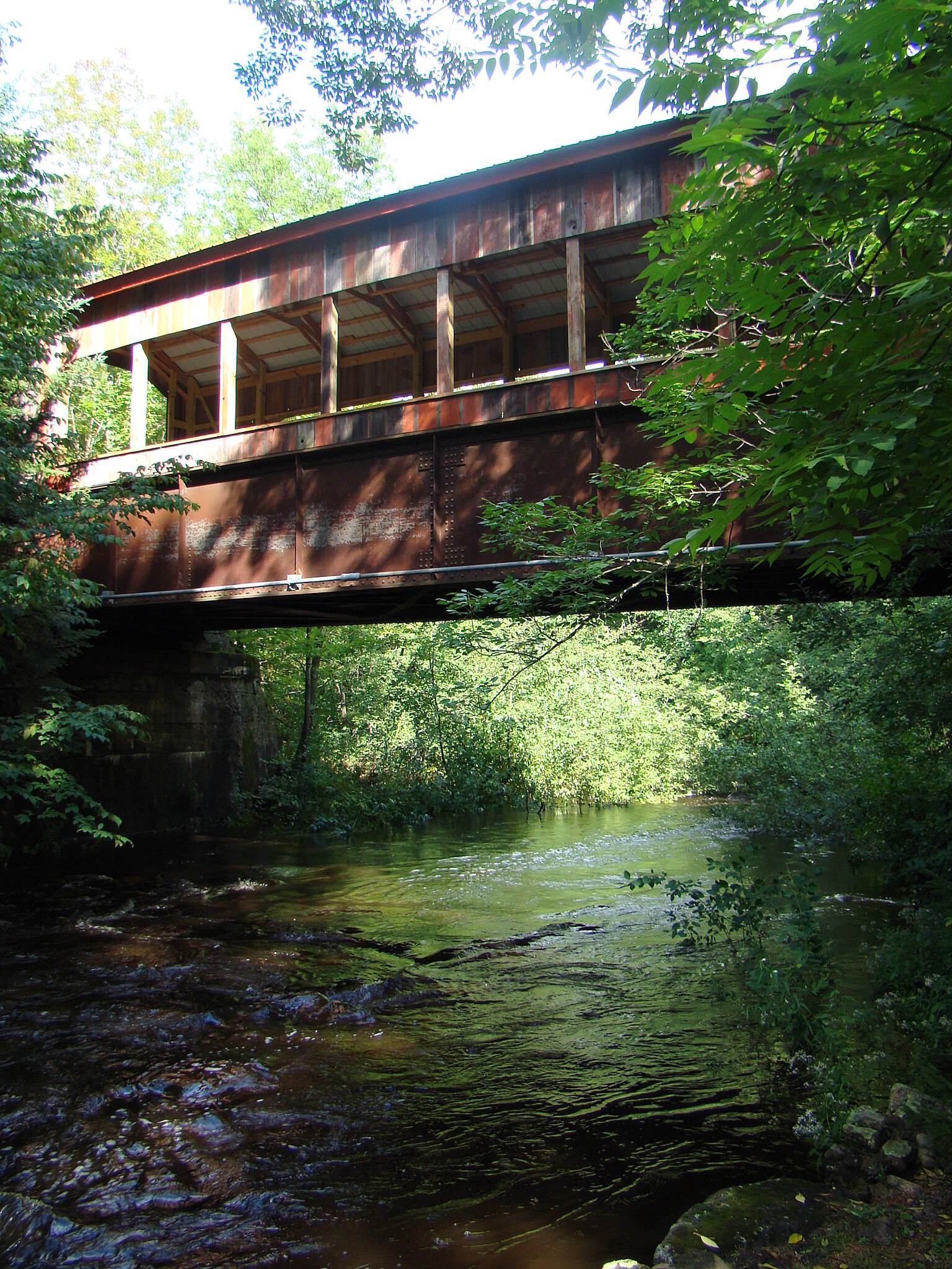 Mountain-Bay State Trail Covered Bridge Covered bridge on the trail in Bolwer.