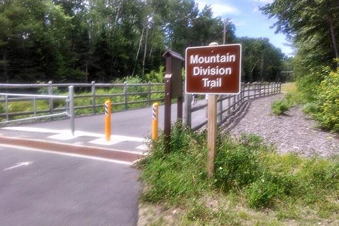 Mountain Division Trail Mountain Division Trail Head Eastern Trail Head on Rt 113 in Fryeburg