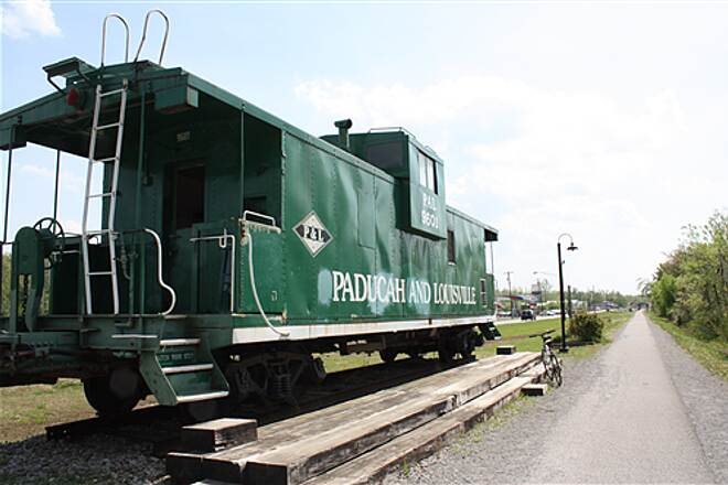 Muhlenberg County Rail-Trail Caboose in Greenvile