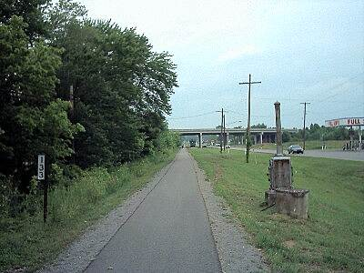Muhlenberg County Rail-Trail Original Railroad Mile Marker 133 miles to Louisville.