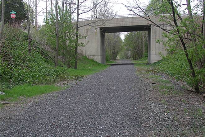 Muhlenberg Rail Trail Looking North toward Elizabeth Avenue