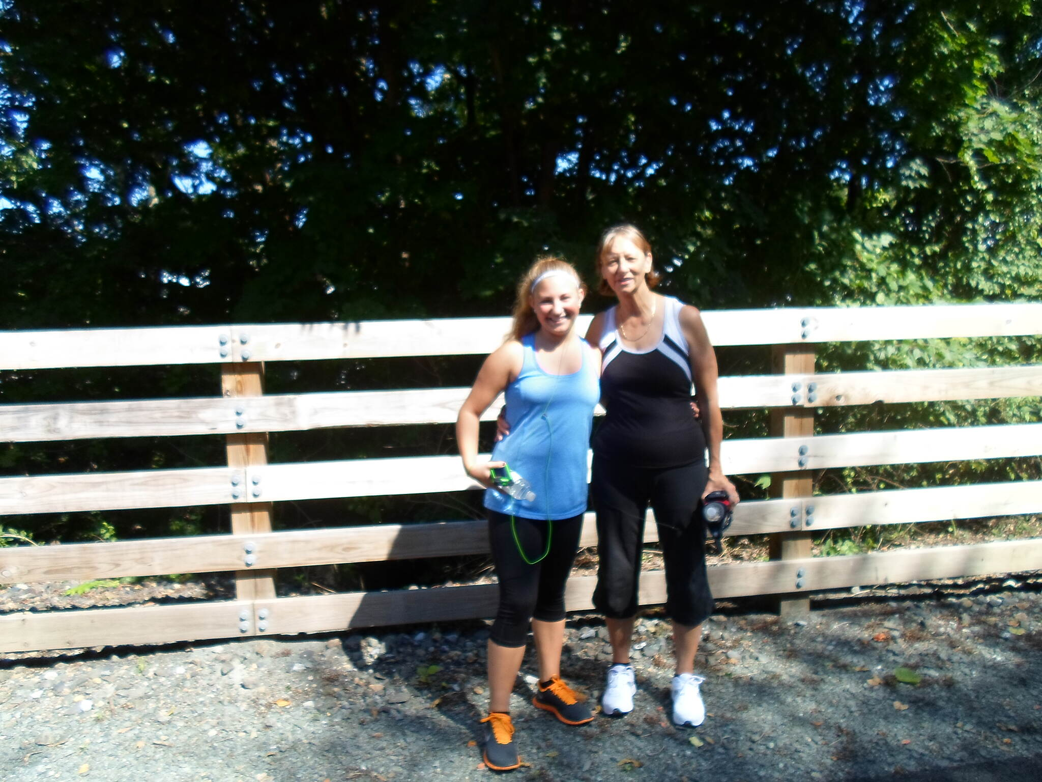 Muhlenberg Rail Trail Muhlenberg Rail Trail This woman and her granddaughter were using the trail for a late summer run. Taken August 2013.
