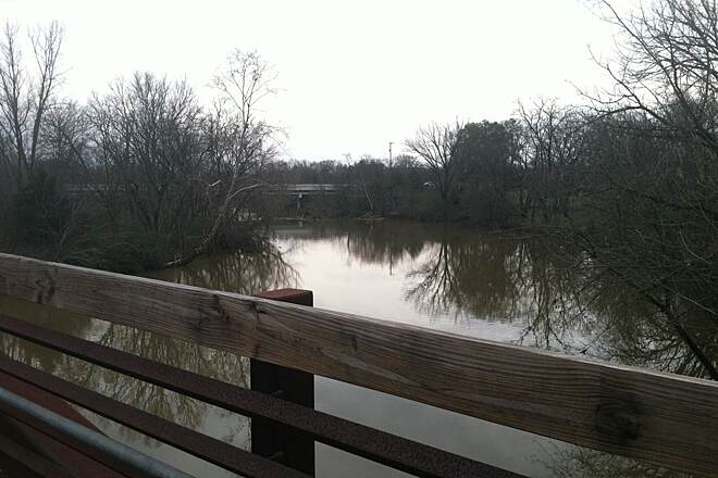 Murfreesboro's Stones River Greenway System View from bridge