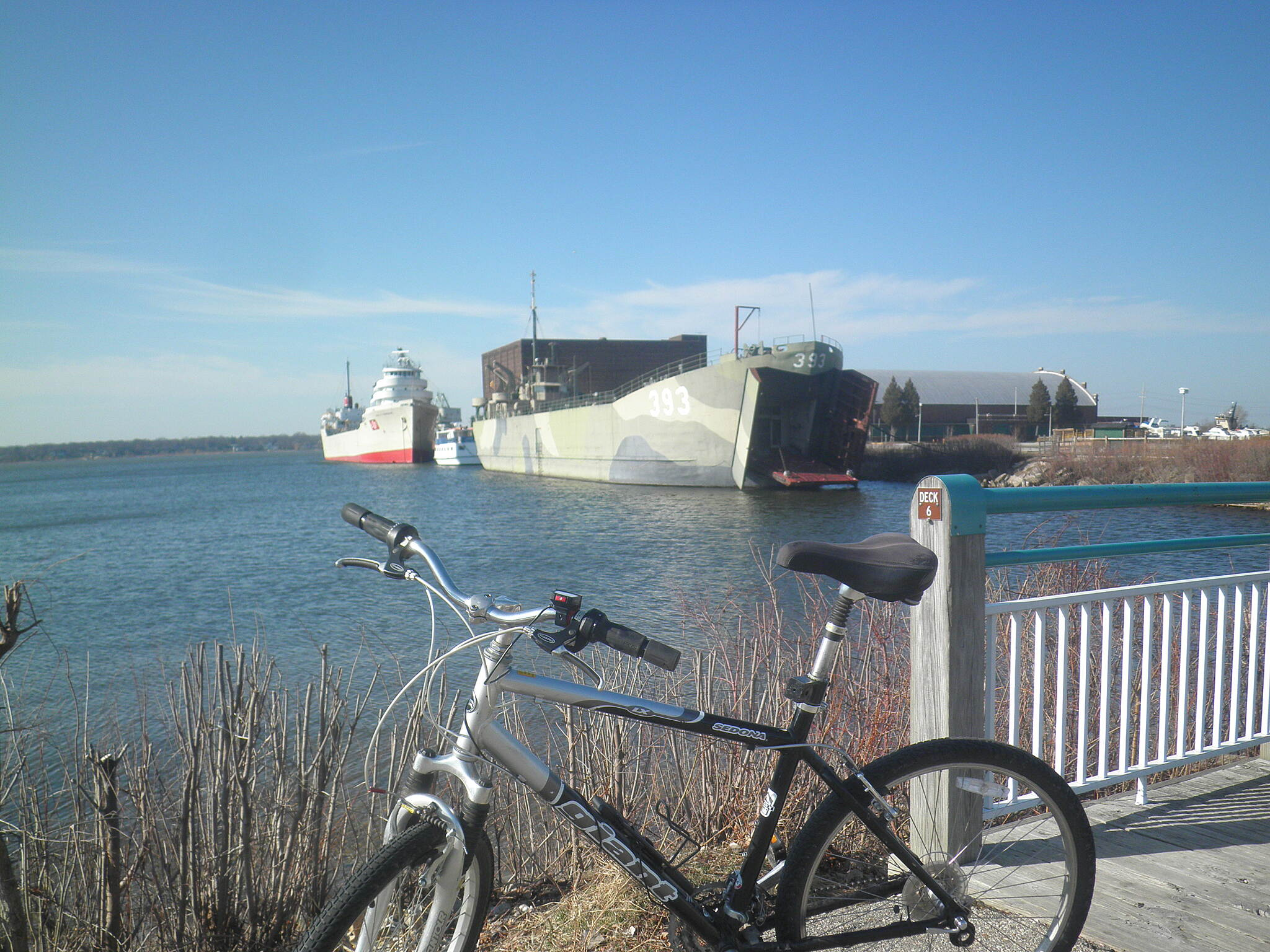 Muskegon Lakeshore Trail Ship docks on Muskegon Lake