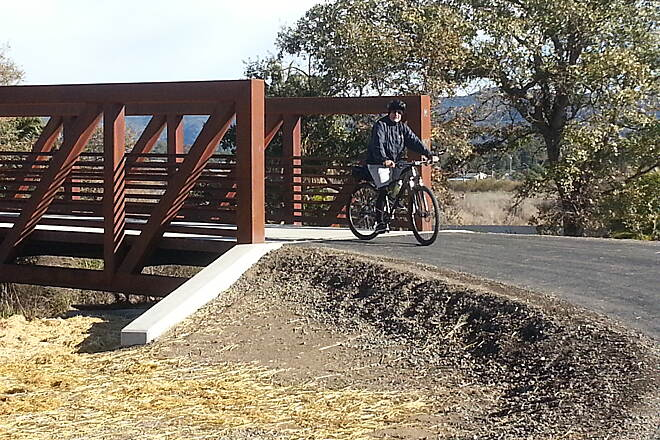 Napa Valley Vine Trail Bridge near Hartle Lane Bridge at south end of new section of Vine Trail near Kennedy Park