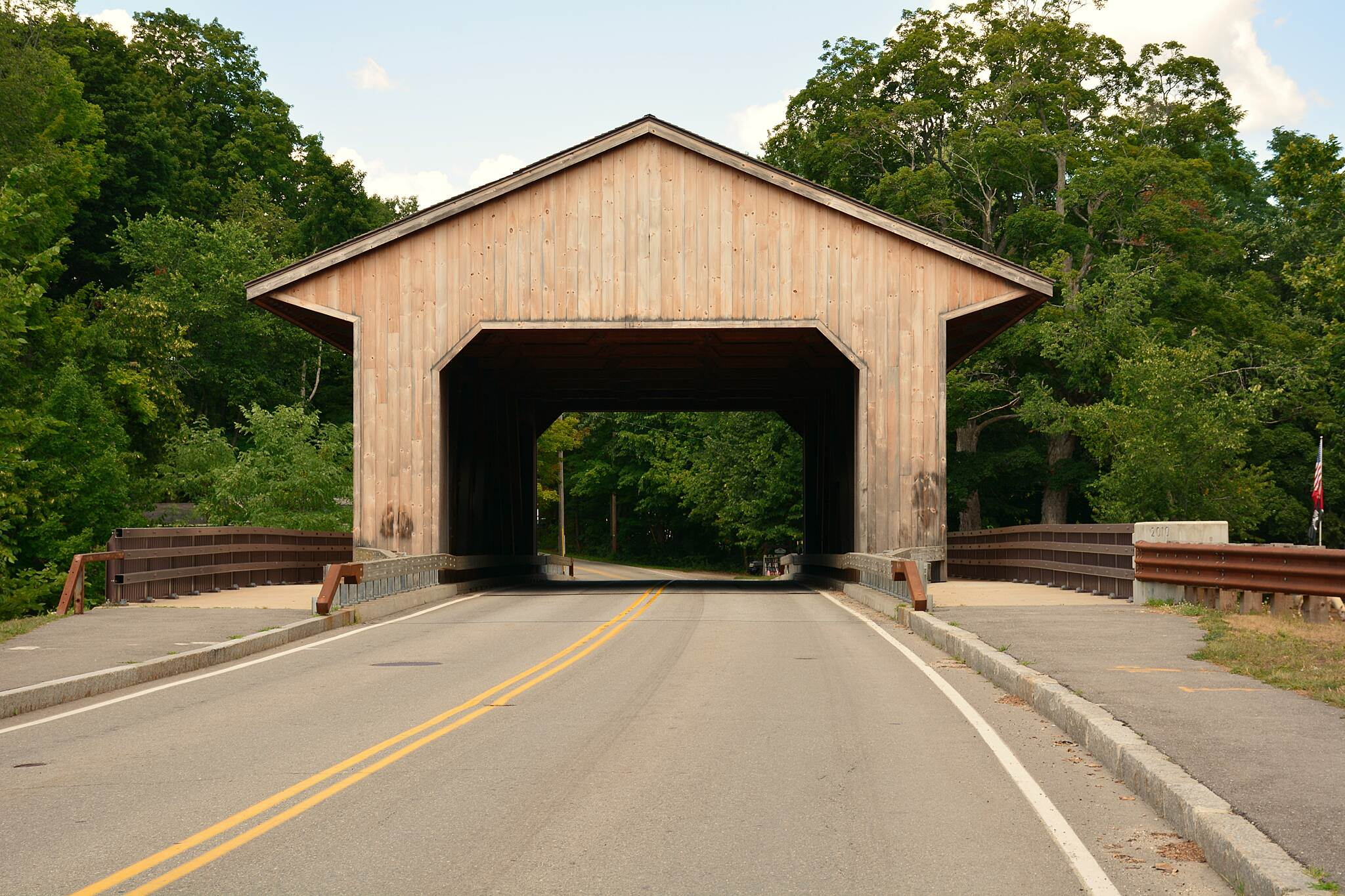 Nashua River Rail Trail Covered Bridge in Pepperell