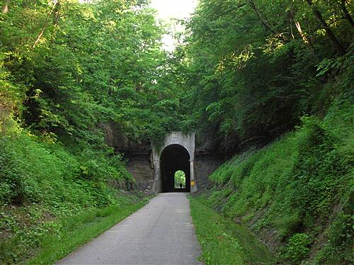 National Road Bikeway  Approaching tunnel from south