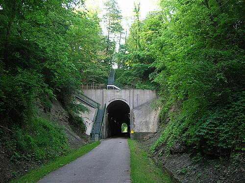 National Road Bikeway  Emerging from tunnel on northern side
