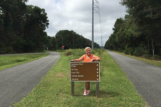 Nature Coast State Trail At the Crossroads on the way to Fanning Springs State Park.