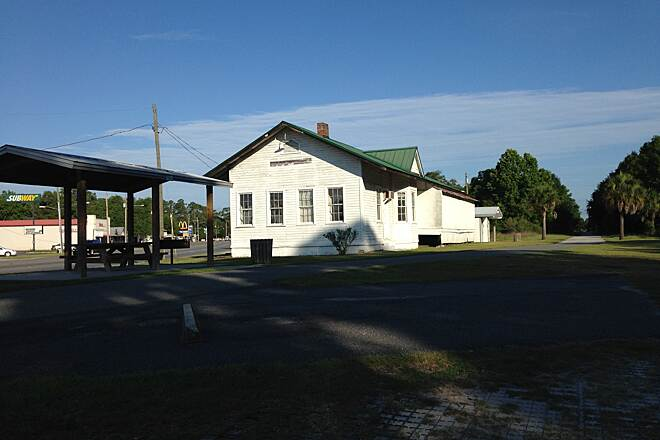Nature Coast State Trail Trailhead, Old Train Station The old train station (no longer in use) serves as the trail head for Nature Coast State Trail. It has rest rooms and good parking. Its right on US 19 in Cross City and is very easy to find.