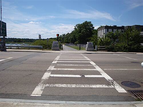 Neponset River Greenway Granite Ave Crossing Granite Ave Crossing - looking west