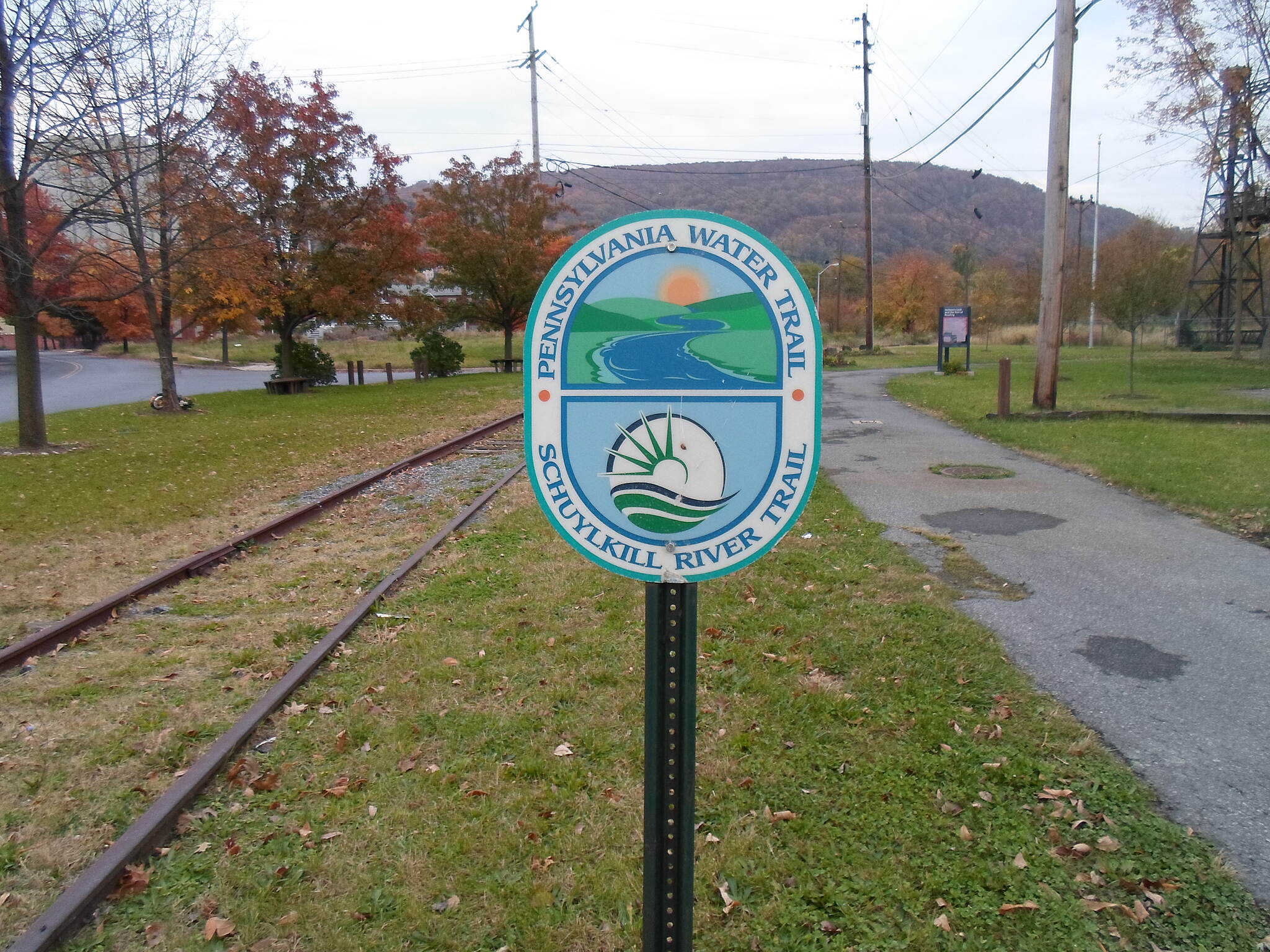 Neversink Connector Trail Neversink Connector Trail Sign near the trail's southern terminus at Reading's Heritage Park indicating its significance in the extensive greenway network that it is part of.