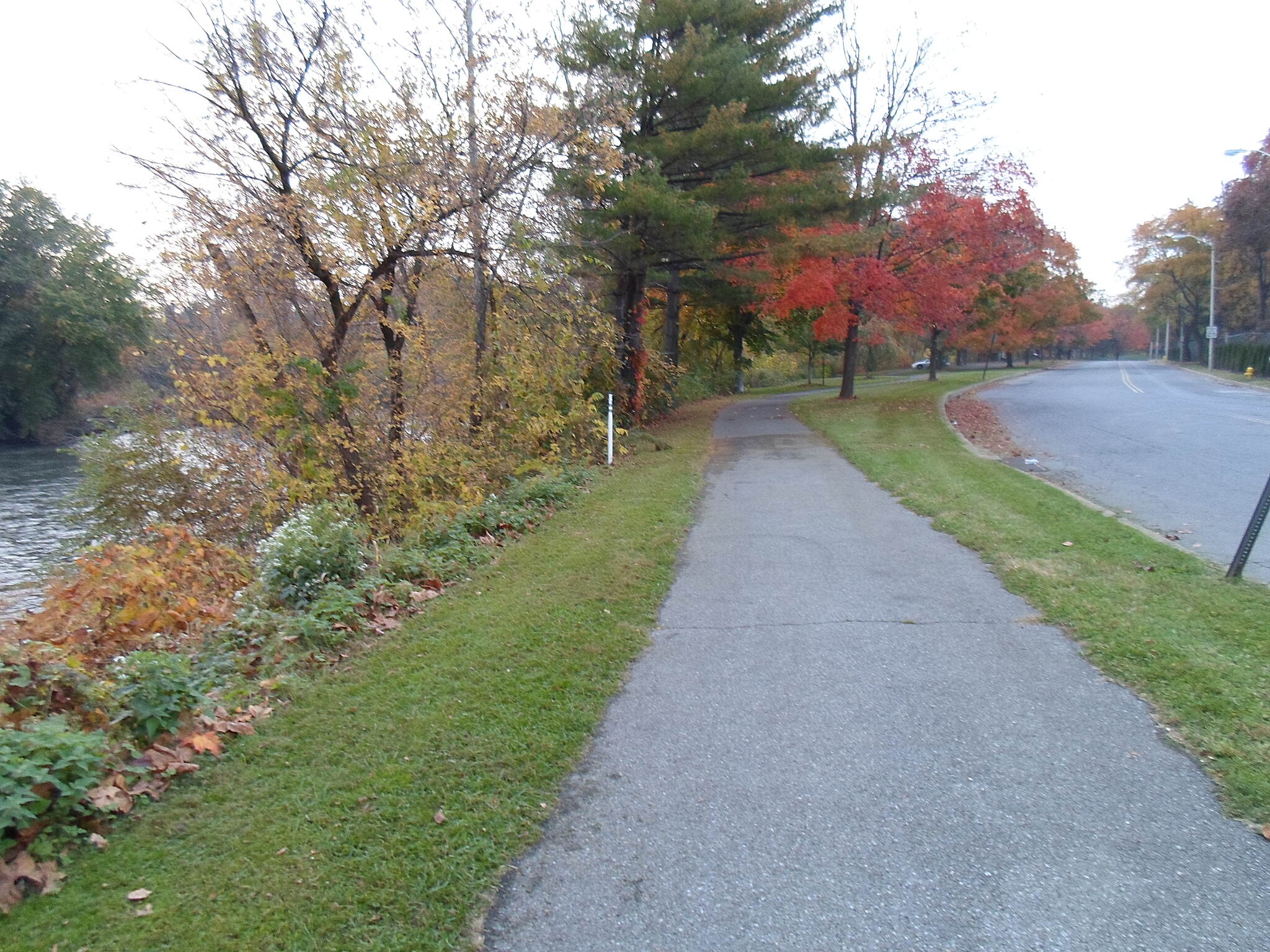Neversink Connector Trail Neversink Connector Trail Approaching Riverfront Park from the southeast.