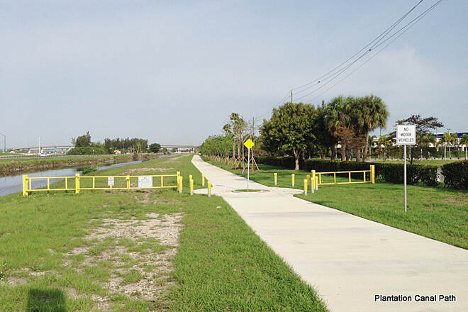 New River Greenway SW 136 St looking West SW 136th Street looking west towards 'Sawgrass Expressway'