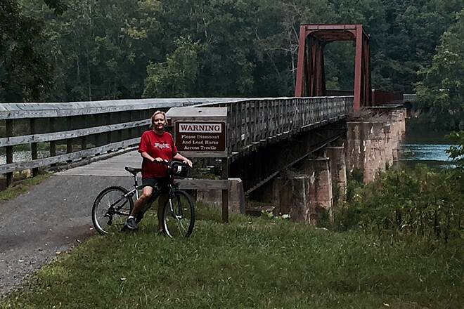 New River Trail State Park 30 miles 30 miles with my bride of 33 years. Thanks for the support of this trail system. We had a ball. What a beautiful ride thanks so much.