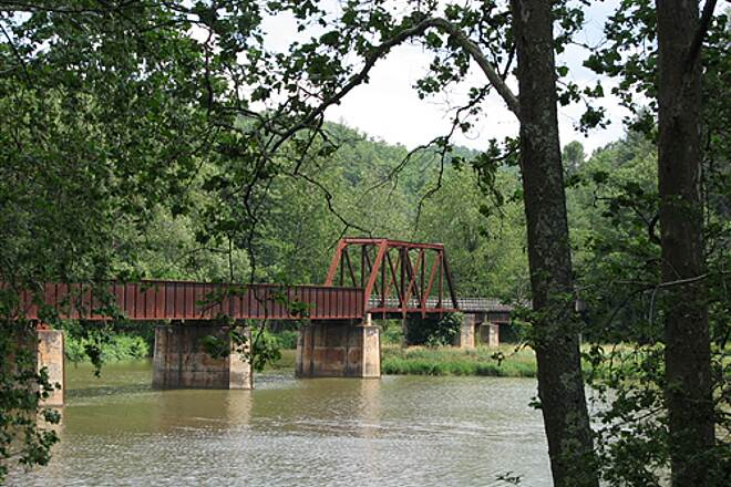 New River Trail State Park Bridge near Fries Junction June 23, 2008