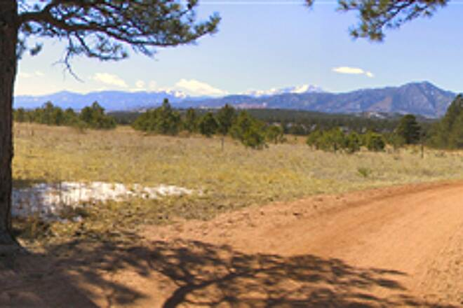 New Santa Fe Regional Trail Santa Fe Trail, Southward View, Pikes Peak in Background Santa Fe Trail - March 4th, 2008