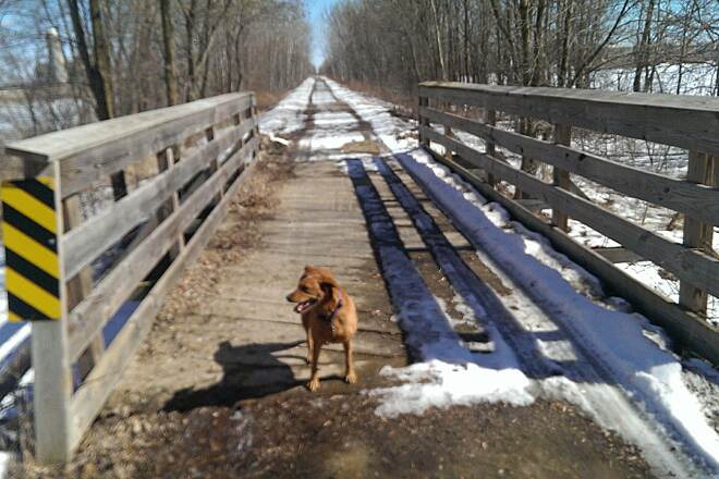 Newton Blackmour State Trail bridge