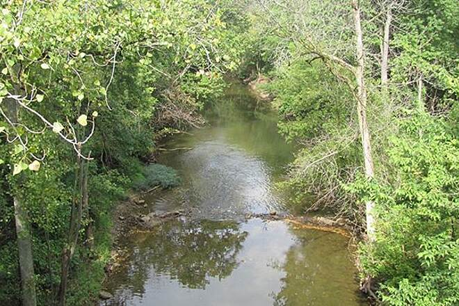 Nickel Plate Trail Creek along the way Great weather for a ride, few others on the trail. Many apples had fallen from the nearby trees onto the trail so be careful! Overall, the trail is very nice, highly recommended.