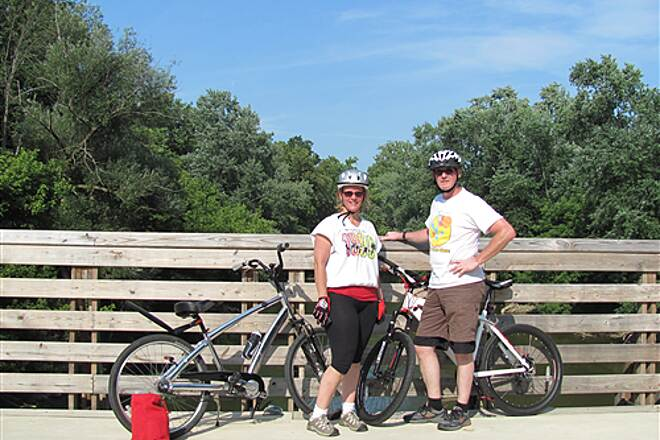 Nickel Plate Trail Nice ride but HOT!!! Around the 30 mile mark