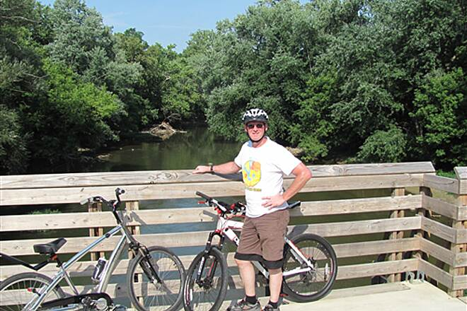 Nickel Plate Trail Near the end of the ride Finishing a 40 mile ride July 28, 2011