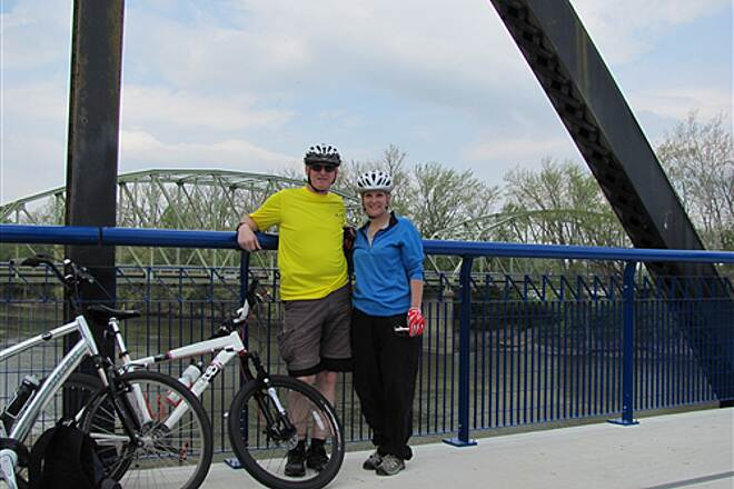 Nickel Plate Trail Wabash River bridge view Bridge view