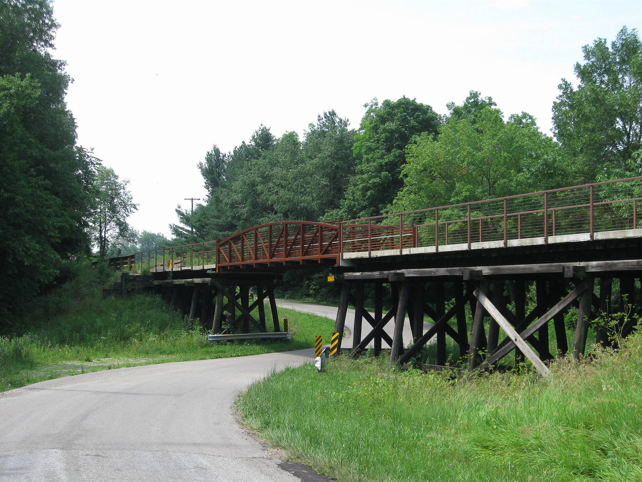 Nickel Plate Trail Trestle over Raod