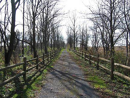 Nor-Bath Trail Northampton-Bath Recreation Trail (Nor-Bath) A split rail fence lines the trail approximately one mile east of Bicentennial Park in Bath.