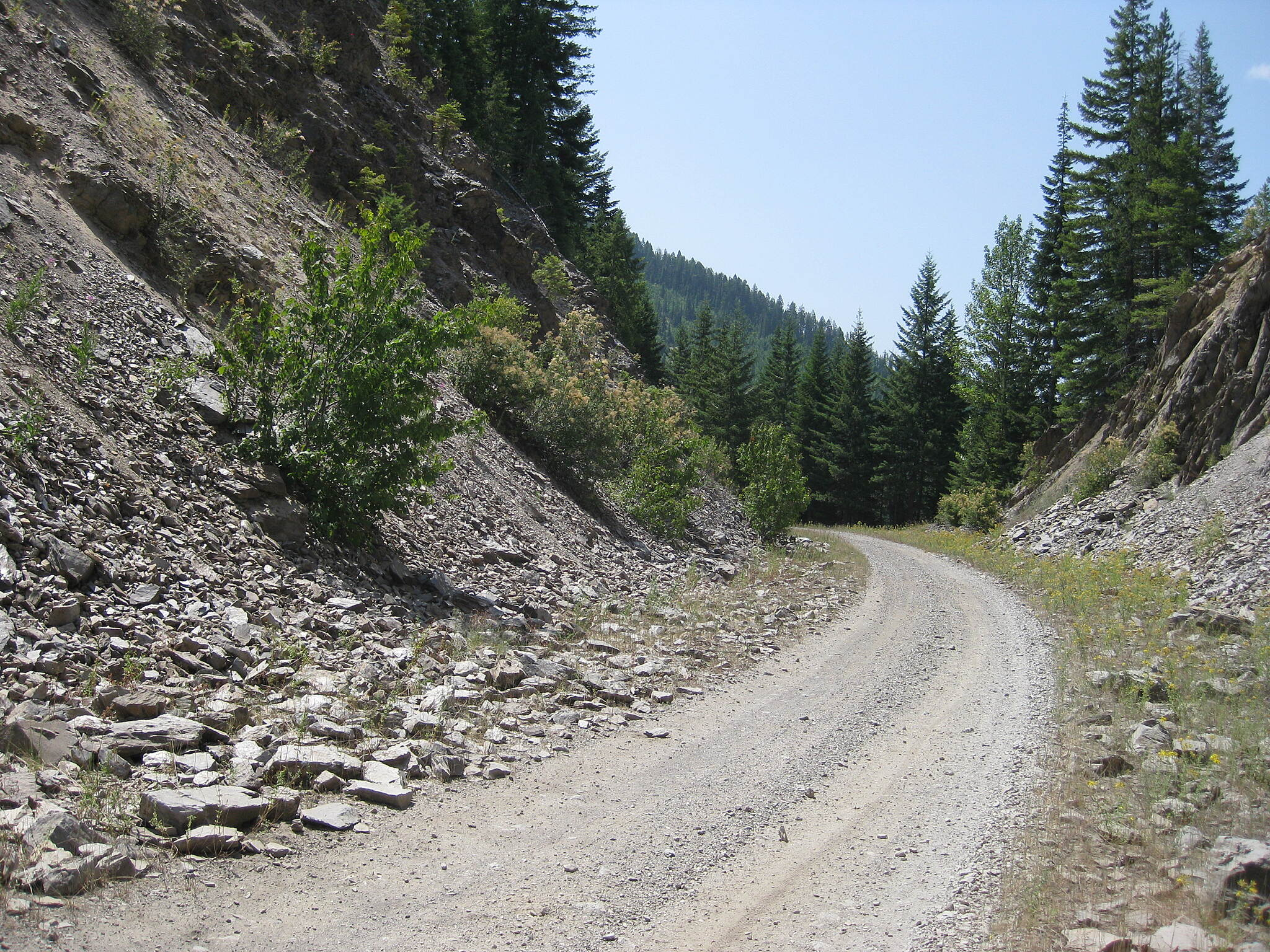 NorPac Trail Midday, Midway Between Mullan and Lookout Pass