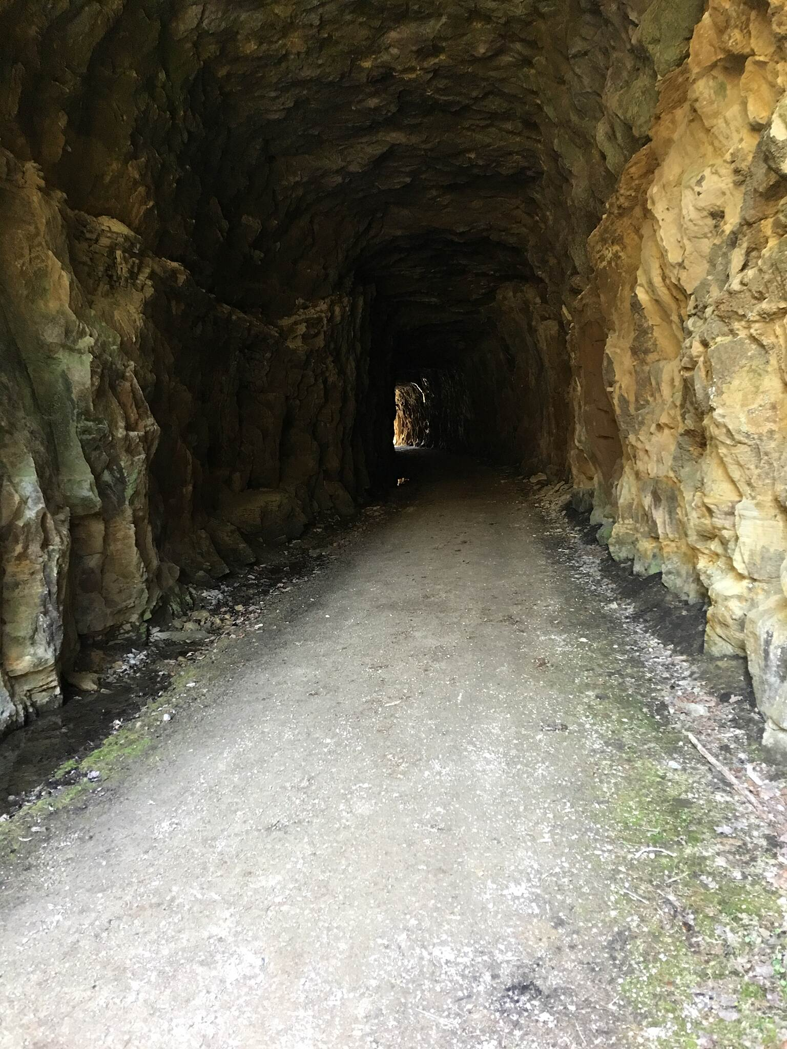 North Bend Rail Trail All natural cut stone tunnel #10 Ellenboro to Cairo-RMS