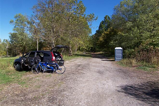 North Bend Rail Trail Happy Valley Parking Area Parking area not that clearly defined, but adequate