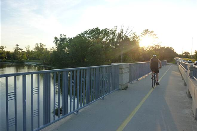 North Branch Trail Bridge at Tower Road