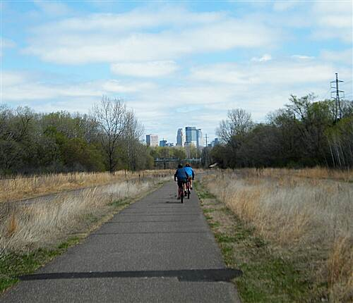 North Cedar Lake Regional Trail/Cedar Lake Trail Bikers on the Trail