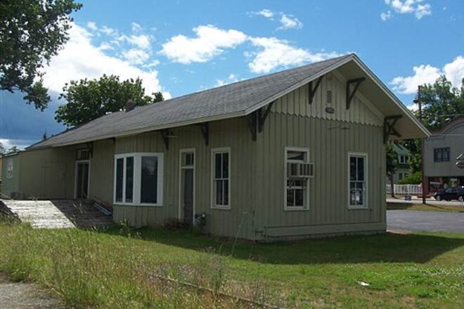 North Central State Trail  Train depot at Indian River.
