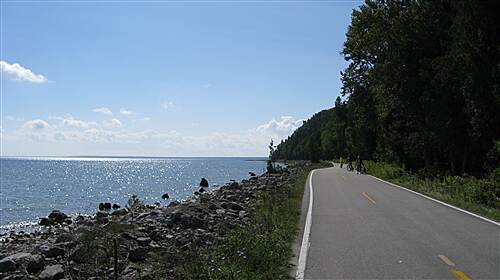 North Central State Trail Mackinac The bicycles only road around Mackinac Island