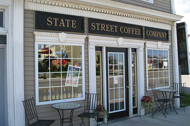 North Central State Trail Lunch Break State Street Coffee Company in Cheboygan